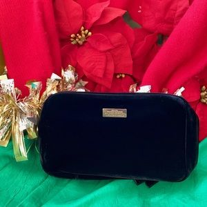 Authentic Carolina Herrera Black Luxe Clutch Bag